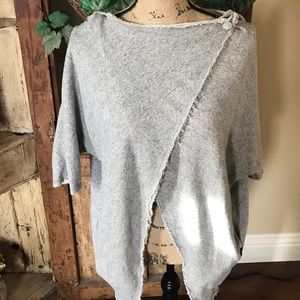 🎄VANS Heather Gray Casual Wrap Sweater. Size SM